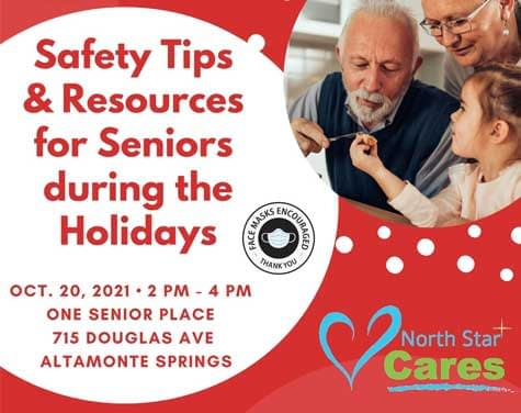 Safety tips resources for seniors during the holidays