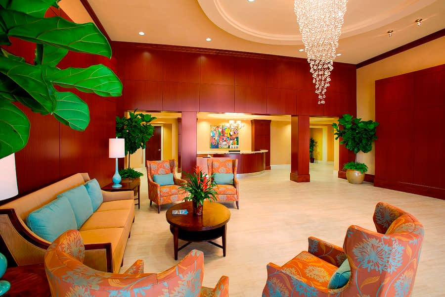 Lobby with chairs and couches